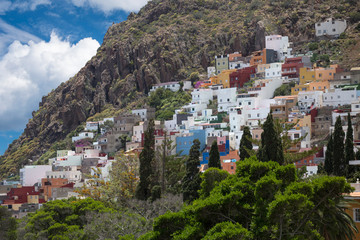 Mountain landscape on tropical island Tenerife