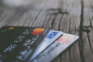 Photo of currency cards.