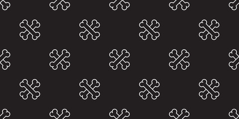 dog bone seamless pattern cross bone vector pirate isolated icon wallpaper