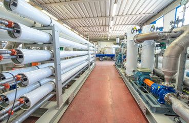 Water Treatment Plant, purifiers pipelines