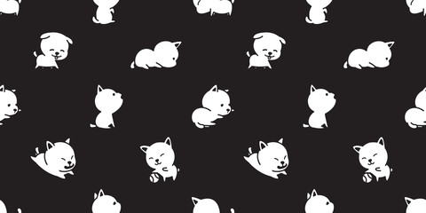 dog seamless pattern french bulldog vector dog breed puppy background wallpaper black