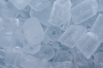 Ice cubes background and mix for refreshing a cool