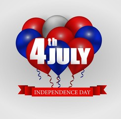 Fourth of July Independence Day greeting card
