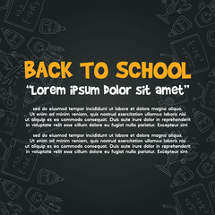 Back to school design blackboard banner