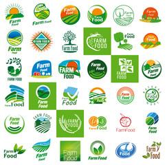 farm food logo set