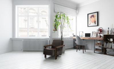Möbliertes Wohnzimmer (Vision)