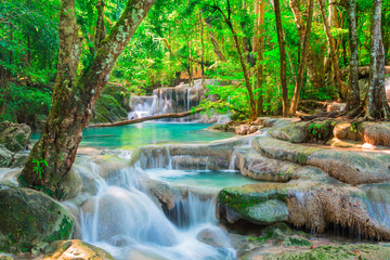 Wall Murals Waterfalls Beautiful waterfall in tropical forest