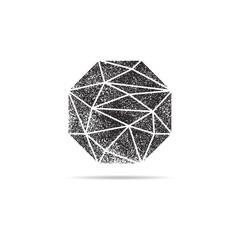Retro gemstone logo crystal stamp