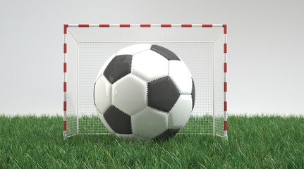 Huge football in small goal