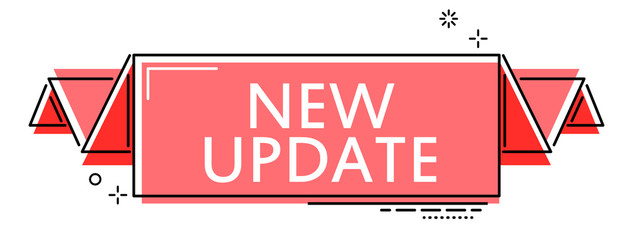 red flat line banner new update