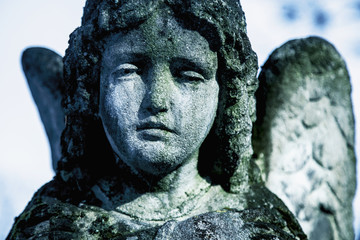 Fototapete - angel of death as a symbol of the end of life (eternity, religion, faith, hope concept)