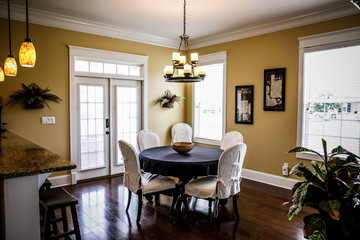Modern Warm Traditional Dining Room