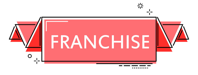 red flat line banner franchise