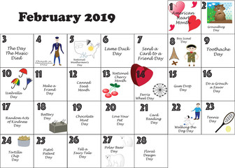 February Quirky Holidays and Unusual Events 2019