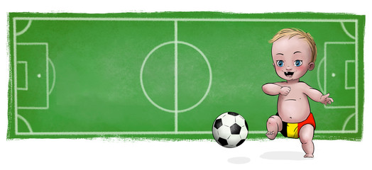 Cute Baby playing football - Belgium