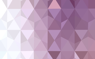 Light Purple vector polygon abstract layout.