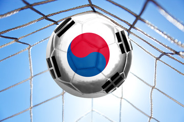 Fussball mit koreanischer Flagge