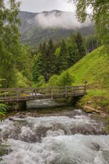 Wanderweg Wilde Wassser und Riesach-Wasserfall, Holzbrücke