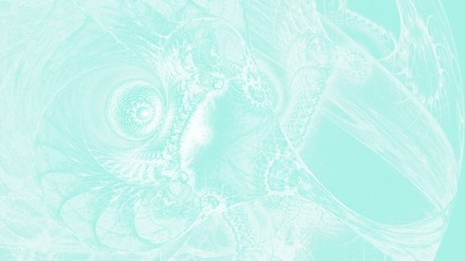 Organische Gebilde - Pastellblau