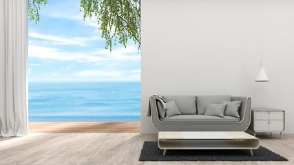 The Modern Living room 3d rendering