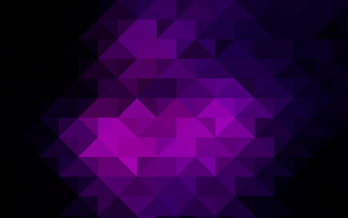 Dark Pink vector abstract polygonal background.