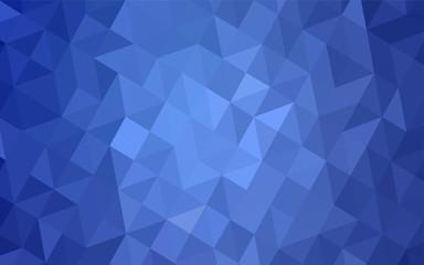 Light BLUE vector abstract mosaic backdrop.
