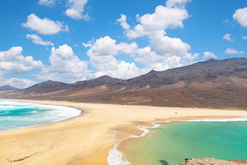 Fotobehang Canarische Eilanden view of Barlovento beach in Fuerteventura, Canary Islands, Spain