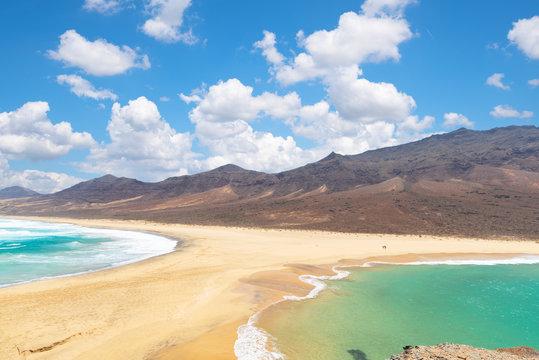 view of Barlovento beach in Fuerteventura, Canary Islands, Spain