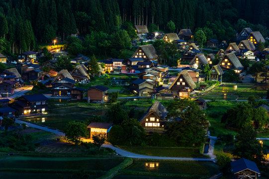 Top view of Shirakawago, Japan