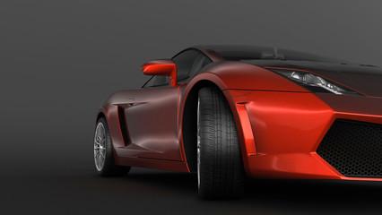 Super sport car in perspective