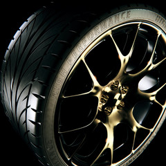 3D Rendering of a sports car alloy wheel