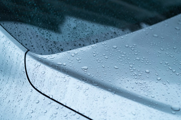 水滴・自動車