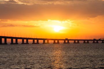 Original Seven Mile Bridge at Sunset