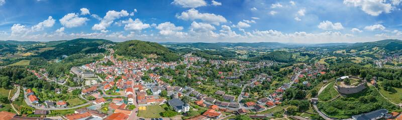 Luftbild Lindenfels im Odenwald 360° VR
