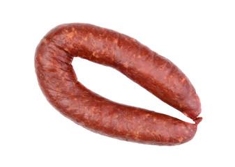 Smoked sausage isolated
