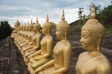 Buddha statue selected focus