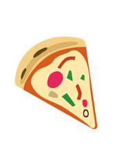 A minimalist isolated pizza piece vector illustration