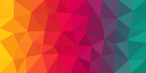 Colorful Low Poly Vector Background Wall mural