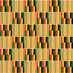 Ethnic seamless pattern. Cloth Kente.