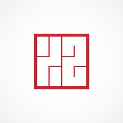 Initial Letter XZ Logo Template Design
