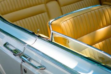 Car door  detail american vintage car /oldtimer