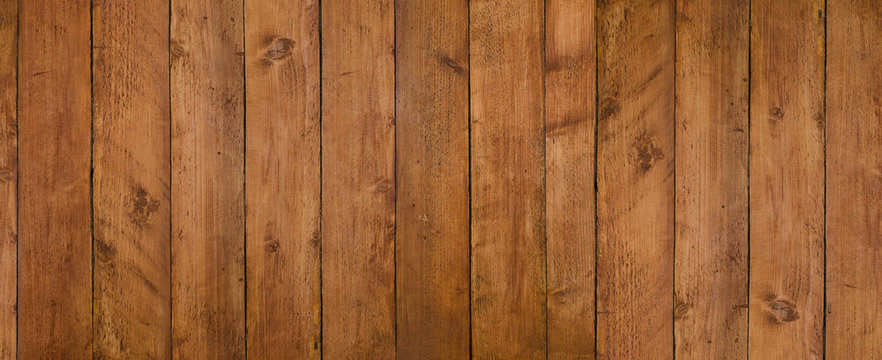 Vintage seamless dark wooden texture natural pattern. Panoramic background for your text or image.