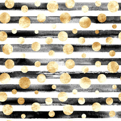 Abstract circles and stripes seamless pattern