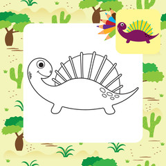 Cute Dino coloring book