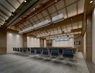 3d render of board room