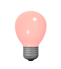 rote Glühbirne auf weiß isoliert. 3d render
