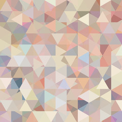 Abstract background consisting of pastel pink, beige, gray triangles. Geometric design for business presentations or web template banner flyer. Vector illustration