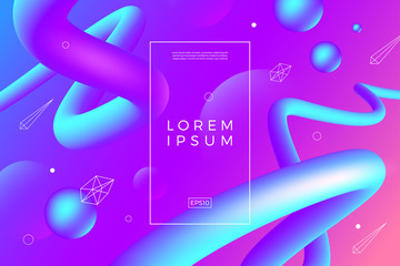 Abstract background with multicolored flow and linear shapes. Vector illustration template. Multipurpose abstract design for covers, flyers, banners, web page background, poster, booklet or brochure.