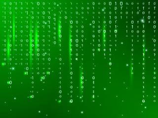 Matrix green background. Vector illustration.