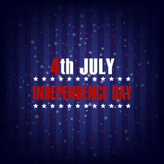 4th of July. Happy Independence Day greeting card. Vector